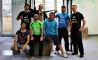Oleg Vorslav und das Trainer- Team im AFS- Athletik- Center in Stuttgart