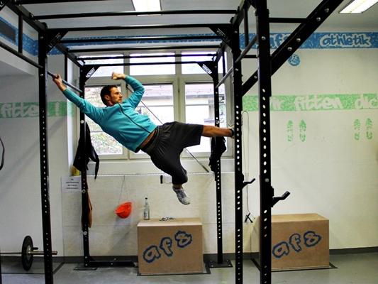 Oleg Vorslav im AFS- Athletik- Center in Stuttgart